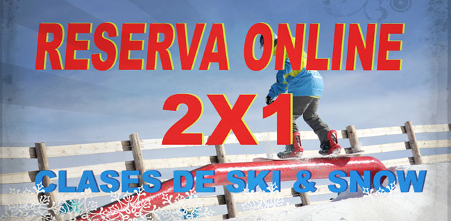 Offer 2x1 ski and snow lessons at the best price.